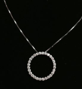Picture of Circle of Life Diamond Pendant
