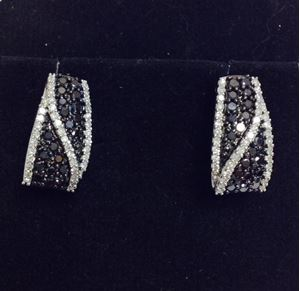 Picture of Black and White Diamond Earrings